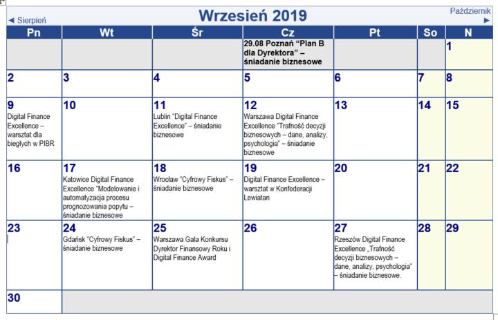 Wrześniowa kartka z kalendarza w KDF Dialog